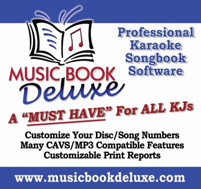 Music Book Deluxe Karaoke Song Book Software Banner Image